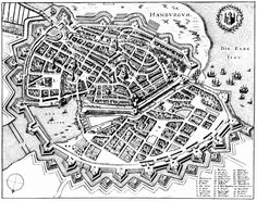 Image result for bastion fortification Creative Class, Merian, Berlin Wall, Five Star Hotel, Fortification, Vintage Maps, Cartography, City Photo, How To Plan