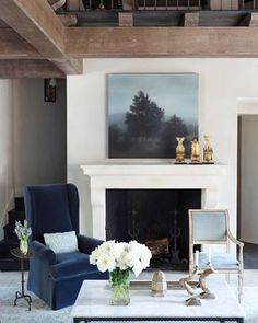 Fireside perch. Interiors by Susan Ferrier.