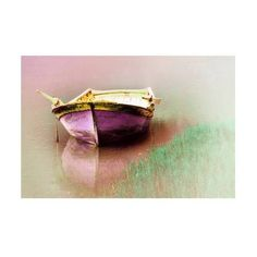 Nature photography, boat photography, lake photography, Landscape photography,purple photography, art, home decor, colour, 8''x12 inch. found on Polyvore