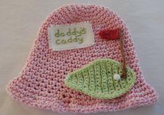 Newborn Baby Girl Hat Cotton Pink Green Golf Hat by KarenFudge, $18.95