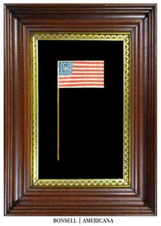 36 Star Antique US Parade Flag with a Great Star in Wreath Configuration | One…