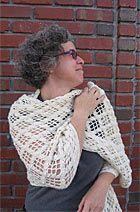 Kraemer Yarns: Our Patterns - Diamond Shell Stole - free downloadable pattern.