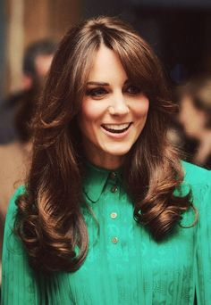 Kate Middleton's hair.  This is what I was shooting for this morning.  I think I got it!