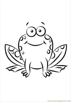Black And White Cartoon Frog Clip Art March Classroom