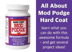 Learn all about the Mod Podge Satin formula! Find out what it is, how to use it, and see some unique projects you can make. Learn all about the Mod Podge Hard Coat formula! Find out what it is, how to use it, and see some unique projects you can make. Diy Mod Podge, Mod Podge Crafts, Glue Crafts, Diy Crafts, Easy Paper Crafts, Crafts To Make, Diy Craft Projects, Projects To Try, Craft Ideas
