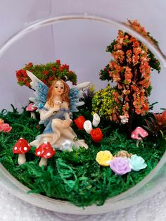 Wispa the petite fairy. Available from our webstore: terrificterrariumsandfairygardens.co.nz