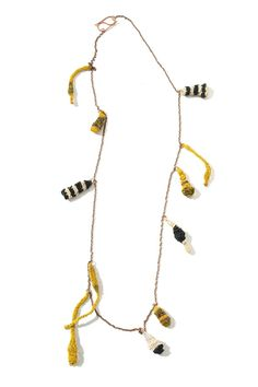 Gabriela Horvat Necklace: Selfportraits - Cocoons, 2009 Silk, copper, chaguar, wool, hand dyed