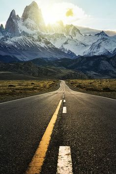 """""""The road to Fitzroy"""" by Jimmy Mcintyre."""
