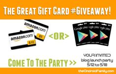 The Great Gift Card #Win either a Amazon gift card or Google Play Store gift cards. #giveaway