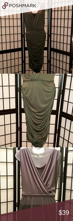 *NWT* Rachel Roy Teak Green Cocktail Party Dress Gorgeous, Great For Any Party, 100% Polyester, Attached Black Cami, Deep V-Neck Front Back, Rope Belt, Bodycon, Very Form Fitting, Gather Side, Accessories not included, Thanks for sharing my closet, I wish show Posh love by doing the same. *Sorry on the lighting, I tried everything, the true color is pic 2* Rachel Roy Dresses
