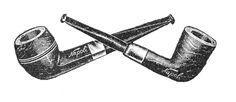napoli pipe illustration vintage ad advertisement