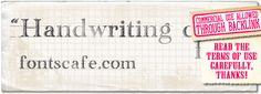 Handwriting draft font