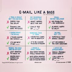 "Renee Wengrofsky on LinkedIn: ""E-mail like a boss! I don't know about you, but I have been working on being more conscious of how I write my emails. I found this handy guide."
