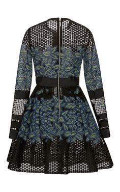 Tree Petal Thread Embroidered Dress by Elie Saab for Preorder on Moda Operandi