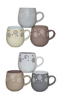 AmazonSmile: House 2 Home 6 pc Coffee Mug Set & Stand: Kitchen & Dining Best Coffee Mugs, Glass Coffee Mugs, Coffee Mug Sets, Mugs Set, Gift Mugs, Gifts In A Mug, Stainless Steel Coffee Mugs, Cool Mugs, House 2