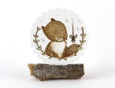 20 Stickers  Whimsical Squirrel & Acorn by whimsywhimsical on Etsy, $8.50