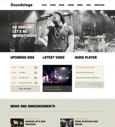 Soundstage Theme | An impressive WordPress Theme for Bands & Musicians = $79