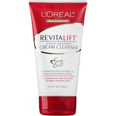 L'Oreal RevitaLift Radiant Smoothing Cream Cleanser ** This is an Amazon Affiliate link. See this great product.