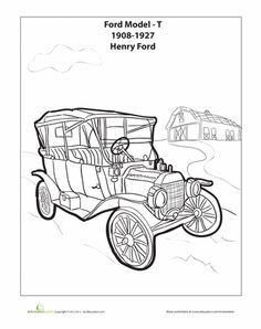 Model T coloring page