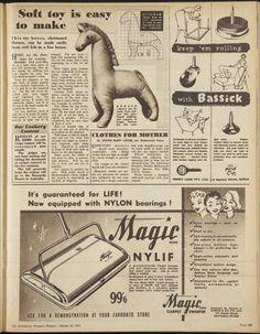 Issue: 26 Oct 1955 - The Australian Women's Wee... felt horsie