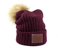 bd5380c3199 Burgundy Pom Beanie (Natural Pom). Love Your Melon ...