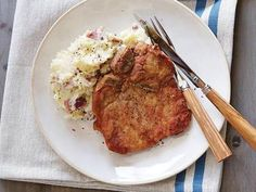 The Pioneer Woman's Fried Pork Chops...not exactly healthy but sooo good.