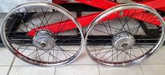 Moto Guzzi Motoleggera 65 cerchi ruota restaurati