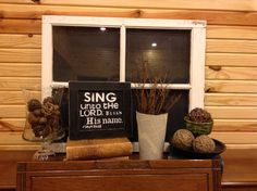 Top of Piano decor....I like the SING and verse