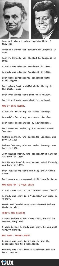 you think, are coincidences merely coincidences? Are these for real or just. Makes you think, are coincidences merely coincidences?Are these for real or just. Makes you think, are coincidences merely coincidences? Funny Quotes, Funny Memes, Hilarious, Memes Humour, The Meta Picture, John F Kennedy, Lincoln Kennedy, Jfk And Abraham Lincoln, Lincoln President