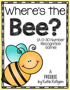 Where's the Bee? {0-30 Number Recognition} This FREE download is great for number recognition with your preschool or Kindergarten classroom or home school students. You get two versions of the game to differentiate and meet student needs. It's great to use with small groups of students or with the entire class. Click through to grab your freebie today!