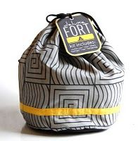 Fort in a Bag. Awesome gift idea for bigger boys (gets trickier finding cool things to make for boys as they get older).
