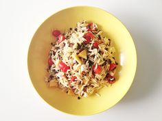 Tangy + Sweet Lentil Orzo Salad - Design Crush
