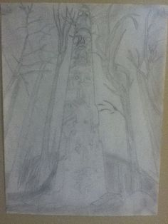 My totem pole sketch (sorry for the horrible quality