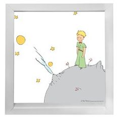 Image Encadrée Petit Prince Lune ATYLIA