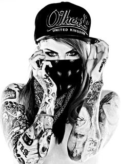 Gangsta Tattoos, Sexy Tattoos, Body Art Tattoos, Girl Tattoos, Arte Lowrider, Gangster Girl, Creation Art, Dope Art, Digital Art Girl
