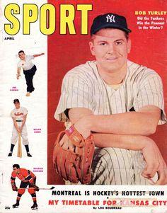 1955 (Apr.) Sport Magazine,Baseball, Bob Turley, New York Yankees~ Ralph Kiner