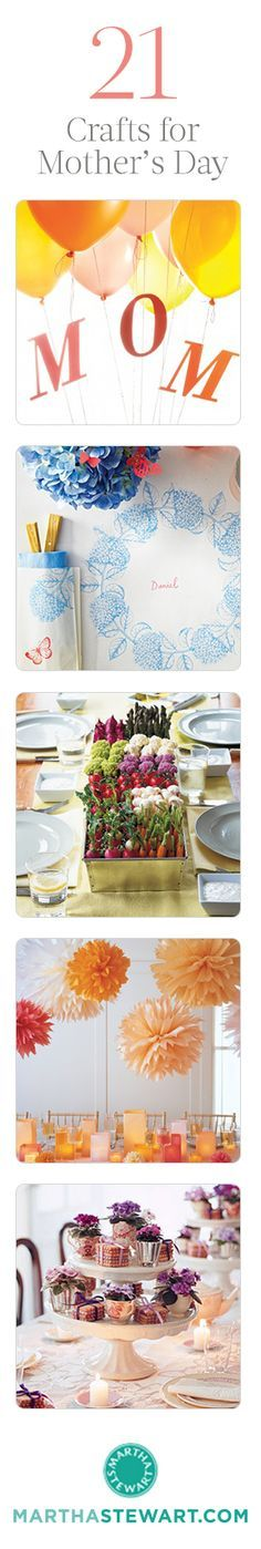 21 DIY crafts for Mother's Day.