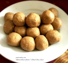 Ladoo or laddu is one of the popular sweets prepared during festivals in India. Earlier I had prepared rava ladoo and coconut meva ladoo.Today I have prepared these nutty whole wheat ladoos , where I have used powdered cashew nuts mixed with whole wheat atta(flour) to give it more taste.This recipe is simple and quick. So let's start with it.