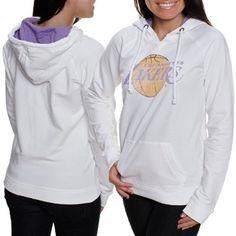 '47 Brand Los Angeles Lakers Women's Alley Oop Hoodie Sweatshirt - White