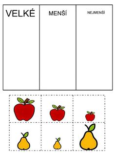 Pro Šíšu: Pracovní listy BARVY TVARY Preschool Apple Theme, Preschool Centers, Preschool Math, Autumn Activities, Preschool Activities, Cross Stitch Flowers, Ms Gs, Cross Stitch Designs, Pre School