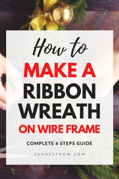 The most common method of making a ribbon wreath is by using a wireframe by supporting the ribbon. Know how to make a ribbon wreath on wire frame. Ribbon Wreath Tutorial, Burlap Ribbon Wreaths, Deco Mesh Wreaths, Diy Wreath, Diy Ribbon, Diy Halloween Ribbon Wreath, Door Wreaths, Halloween Diy, Tulle Wreath