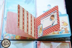Arlene includes a tiny mini album on her By the Sea layout - love this! Click to see more of this great LO #Graphic45