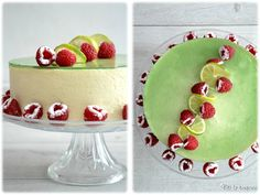 Entremet chocolat blanc citron Haute Cakes, Decoration Patisserie, Fancy Desserts, Breakfast Dessert, Elegant Cakes, Holiday Treats, White Chocolate, Raspberry, Strawberry