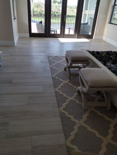 Here is a tile installation we just completed for Brooke and Jerry G. in Delray Beach. They selected a Beautiful porcelain wood look tile called Aequa 12 x 48 color Nix.