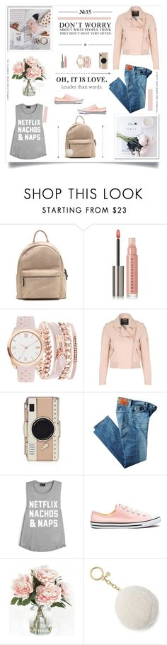 """The best thing to hold onto in life is each other"" by kikusek ❤ liked on Polyvore featuring Prada, Chantecaille, A.X.N.Y., Jane Norman, Kate Spade, AG Adriano Goldschmied, Converse, Home Decorators Collection and MICHAEL Michael Kors"