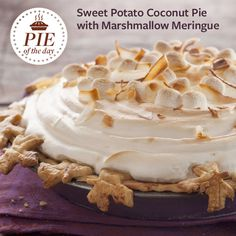 Sweet Potato Coconut Pie with Marshmallow Meringue Recipe is shared by Simone Bazos, Baltimore, Maryland