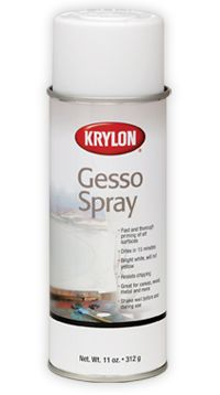 Krylon: Products: Gesso Spray--Using a gesso spray saves time and eliminates brush strokes, sanding, and brush clean up.