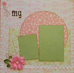 My Girl - 12x12 Premade 2 Page Scrapbook Layout. $15.95, via Etsy.
