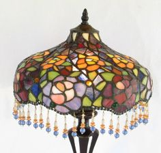 Tiffany Style Stained Glass Lamp by DayJahView on Etsy