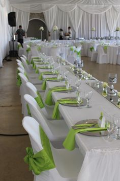 Happy Hearts, Cape Town wedding: Lime green, white and silver